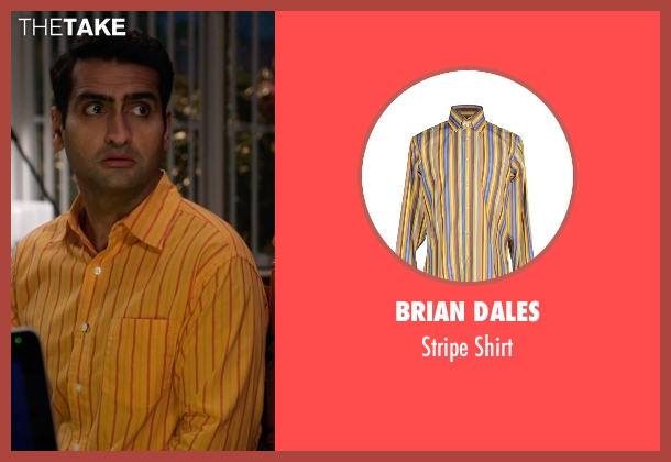 Brian Dales yellow shirt from Silicon Valley seen with Dinesh Chugtai (Kumail Nanjiani)