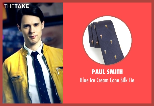 Paul Smith blue tie from Dirk Gently's Holistic Detective Agency seen with Dirk Gently (Samuel Barnett)