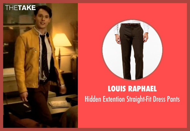 Louis Raphael brown pants from Dirk Gently's Holistic Detective Agency seen with Dirk Gently (Samuel Barnett)