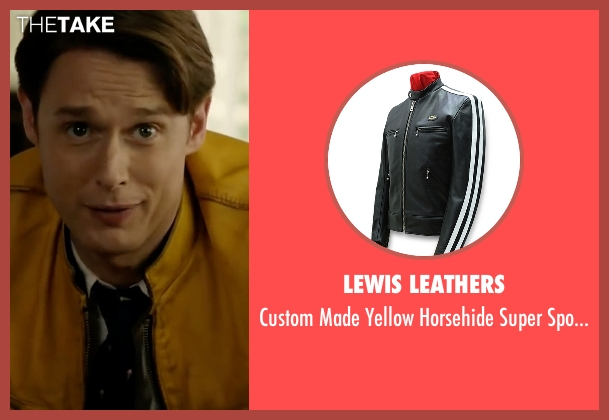 Lewis Leathers yellow jacket from Dirk Gently's Holistic Detective Agency seen with Dirk Gently (Samuel Barnett)