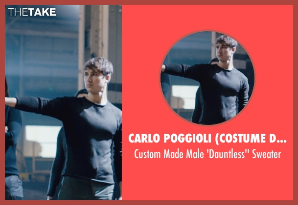 Carlo Poggioli (Costume Designer) black sweater from Divergent