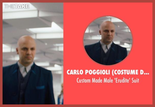 Carlo Poggioli (Costume Designer) blue suit from Divergent