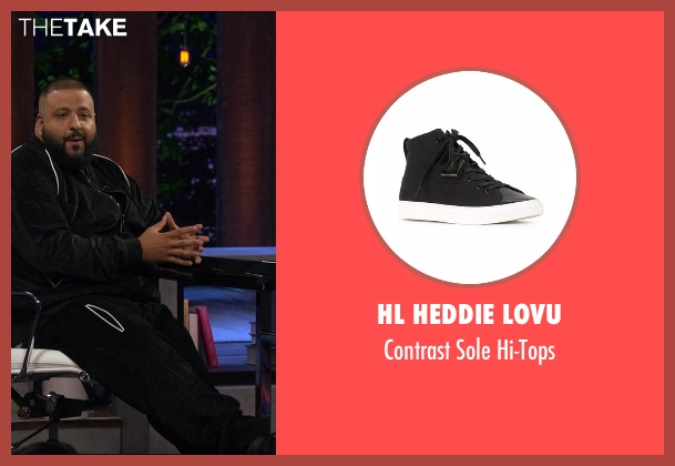 HL Heddie Lovu black hi-tops from Chelsea seen with D.J. Khaled