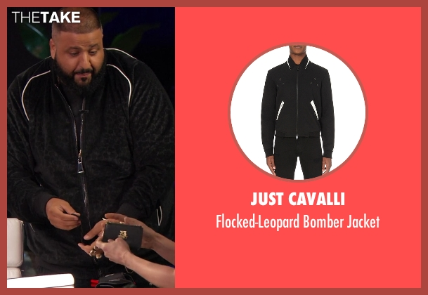 Just Cavalli black jacket from Chelsea seen with D.J. Khaled