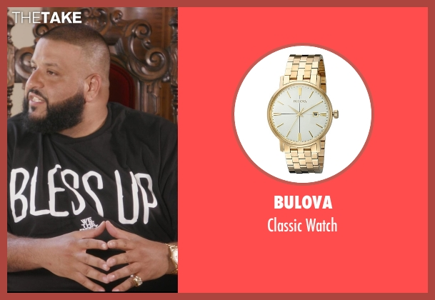 Bulova gold watch from Chelsea seen with D.J. Khaled