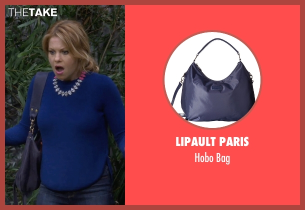 Lipault Paris blue bag from Fuller House seen with D.J. Tanner-Fuller (Candace Cameron Bure)