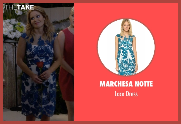 Marchesa Notte blue dress from Fuller House seen with D.J. Tanner-Fuller (Candace Cameron Bure)