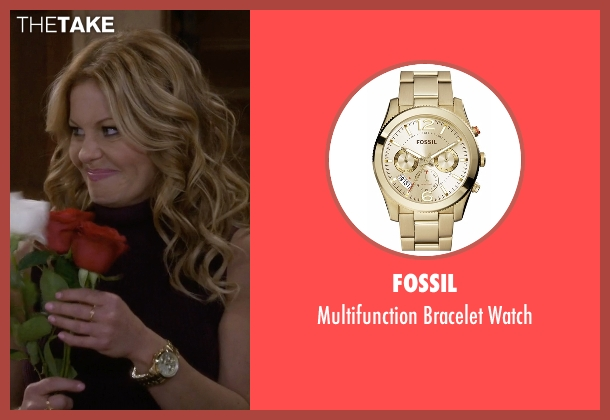 Fossil gold watch from Fuller House seen with D.J. Tanner-Fuller (Candace Cameron Bure)