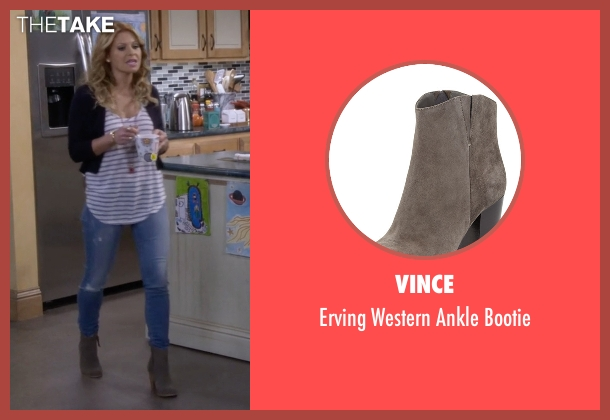 Vince gray bootie from Fuller House seen with D.J. Tanner-Fuller (Candace Cameron Bure)