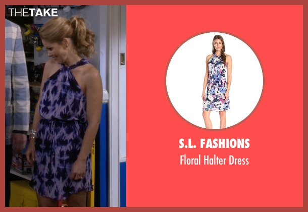 S.L. Fashions purple dress from Fuller House seen with D.J. Tanner-Fuller (Candace Cameron Bure)