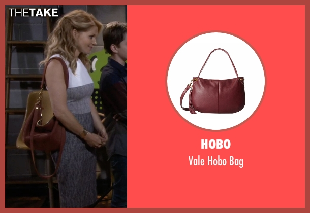 Hobo red bag from Fuller House seen with D.J. Tanner-Fuller (Candace Cameron Bure)