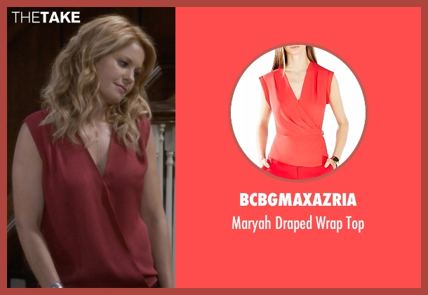 BCBGMAXAZRIA red top from Fuller House seen with D.J. Tanner-Fuller (Candace Cameron Bure)