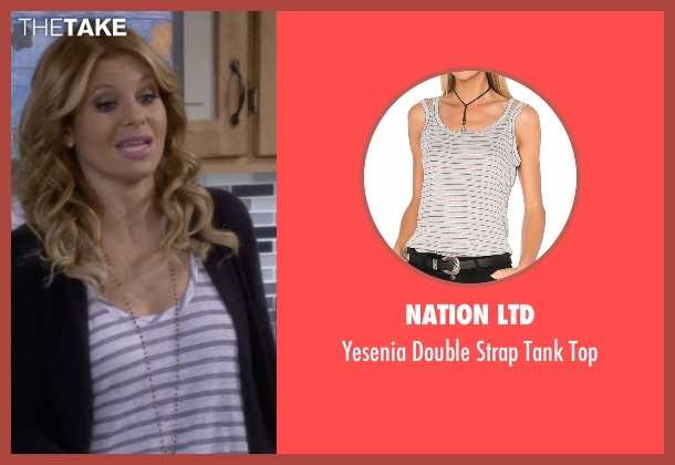Nation Ltd white top from Fuller House seen with D.J. Tanner-Fuller (Candace Cameron Bure)