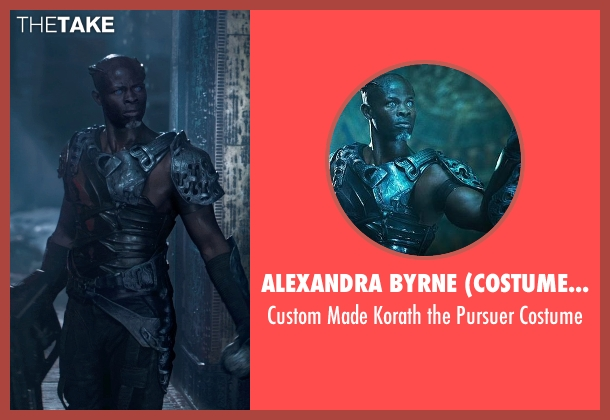Alexandra Byrne (Costume Designer) costume from Guardians of the Galaxy seen with Djimon Hounsou (Korath the Pursuer)