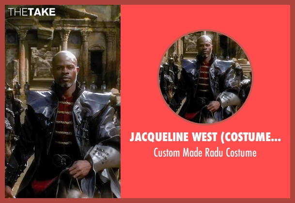 Jacqueline West (Costume Designer) costume from Seventh Son seen with Djimon Hounsou (Radu)