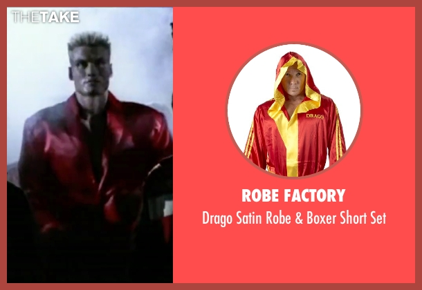 Robe Factory set from Rocky IV seen with Dolph Lundgren (Drago)