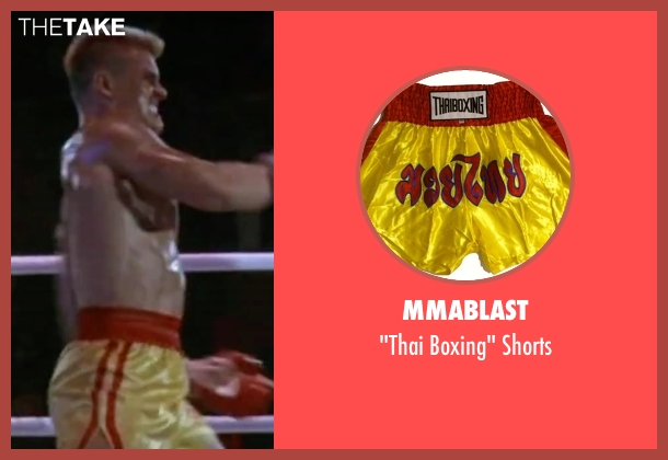 MMABLAST shorts from Rocky IV seen with Dolph Lundgren (Drago)