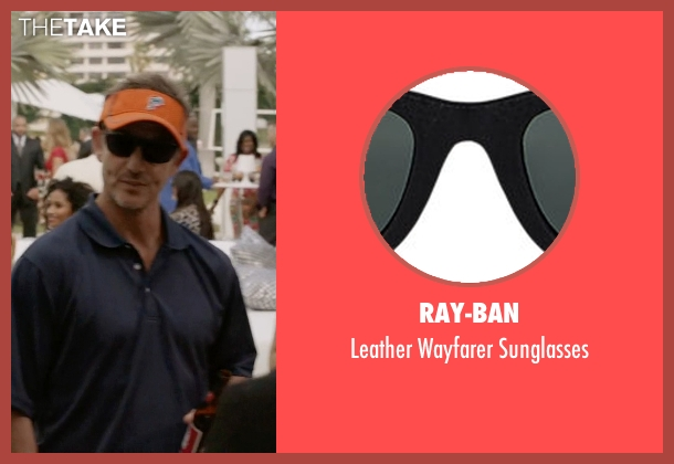 Ray-Ban black sunglasses from Ballers seen with Dolphins Coach (Peter Berg)