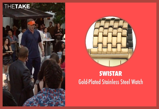 Swistar gold watch from Ballers seen with Dolphins Coach (Peter Berg)