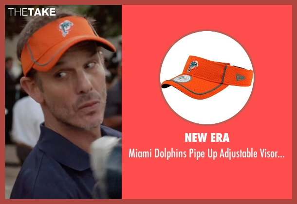 New Era orange hat from Ballers seen with Dolphins Coach (Peter Berg)