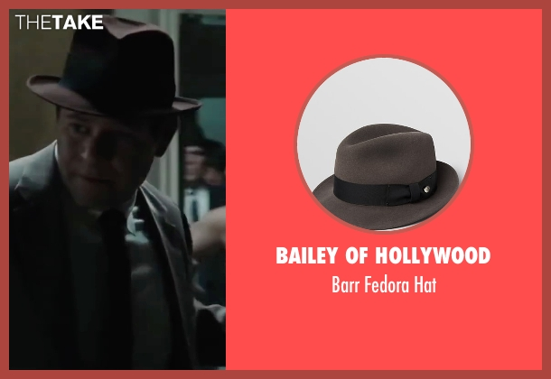 Bailey of Hollywood brown hat from Bridge of Spies seen with Domenick Lombardozzi (Agent Blasco)