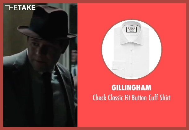 Gillingham white shirt from Bridge of Spies seen with Domenick Lombardozzi (Agent Blasco)