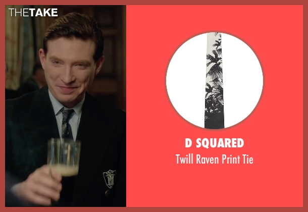 D Squared black tie from Brooklyn seen with Domhnall Gleeson (Jim Farrell)