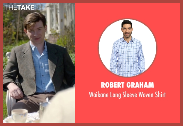 Robert Graham blue shirt from Brooklyn seen with Domhnall Gleeson (Jim Farrell)