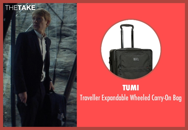 Tumi black bag from Ex Machina seen with Domhnall Gleeson (Caleb)