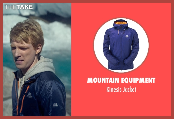 Mountain Equipment blue jacket from Ex Machina seen with Domhnall Gleeson (Caleb)