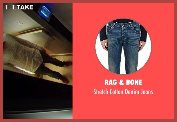 Rag & Bone blue jeans from Ex Machina seen with Domhnall Gleeson (Caleb)