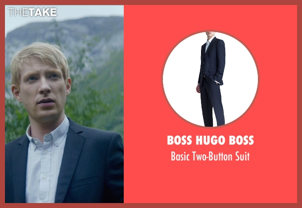 Boss Hugo Boss blue suit from Ex Machina seen with Domhnall Gleeson (Caleb)