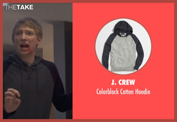J. Crew gray hoodie from Ex Machina seen with Domhnall Gleeson (Caleb)