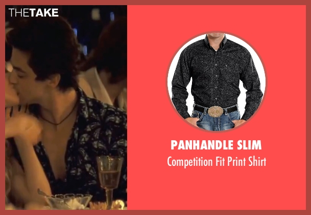 Panhandle Slim black shirt from Mamma Mia! seen with Dominic Cooper (Sky)