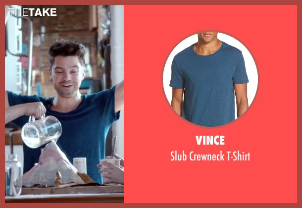 Vince blue t-shirt from Miss You Already seen with Dominic Cooper (Kit)