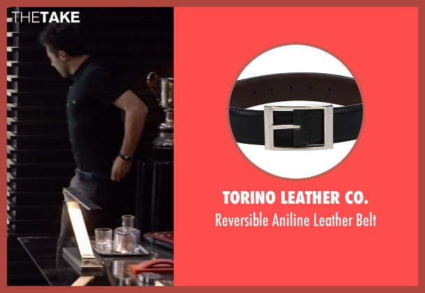 Torino Leather Co. black belt from Need for Speed seen with Dominic Cooper (Dino Brewster)