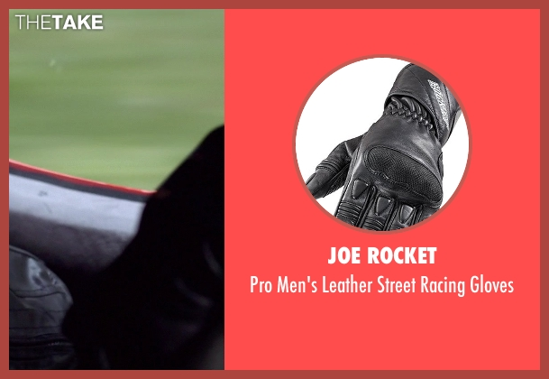 Joe Rocket black gloves from Need for Speed seen with Dominic Cooper (Dino Brewster)