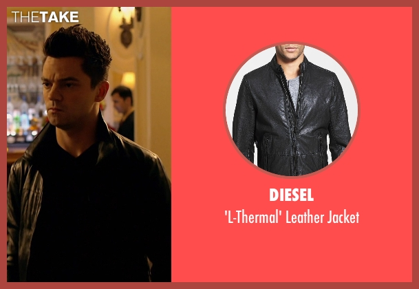 Diesel black jacket from Need for Speed seen with Dominic Cooper (Dino Brewster)