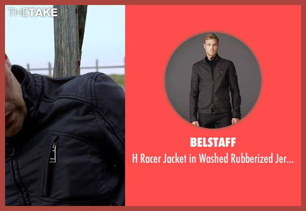 Belstaff black jersey from Need for Speed seen with Dominic Cooper (Dino Brewster)