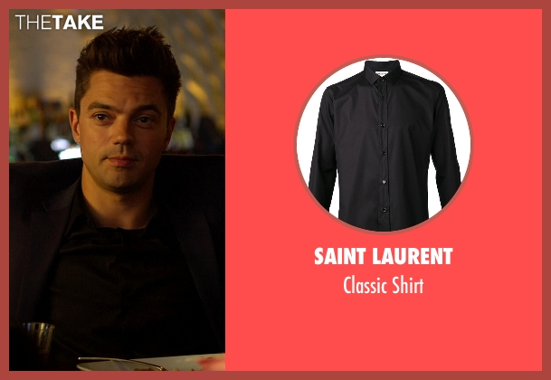 Saint Laurent black shirt from Need for Speed seen with Dominic Cooper (Dino Brewster)