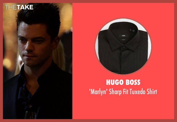 Hugo Boss black shirt from Need for Speed seen with Dominic Cooper (Dino Brewster)