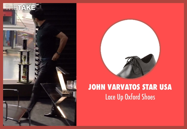 John Varvatos Star USA black shoes from Need for Speed seen with Dominic Cooper (Dino Brewster)