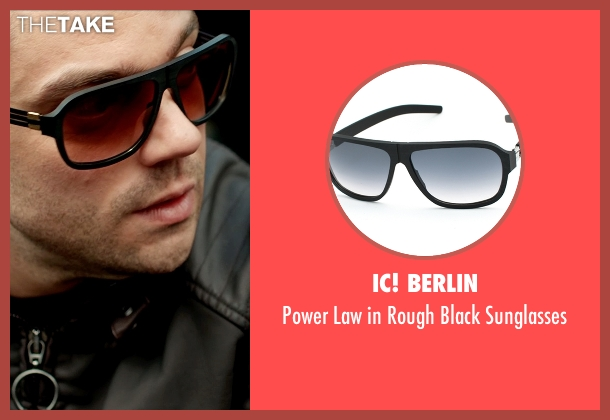 iC! berlin black sunglasses from Need for Speed seen with Dominic Cooper (Dino Brewster)