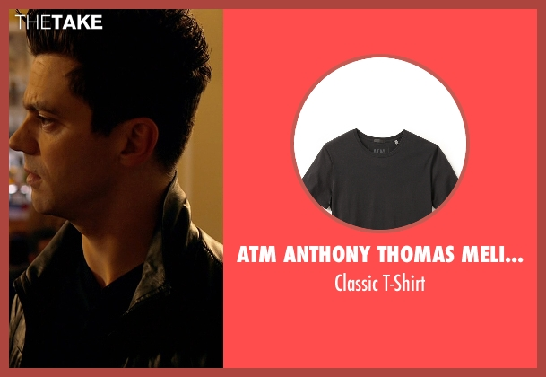 ATM Anthony Thomas Melillo black t-shirt from Need for Speed seen with Dominic Cooper (Dino Brewster)