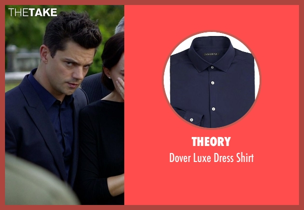 Theory blue shirt from Need for Speed seen with Dominic Cooper (Dino Brewster)