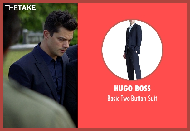 Hugo Boss blue suit from Need for Speed seen with Dominic Cooper (Dino Brewster)