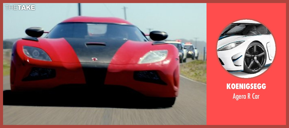 Koenigsegg car from Need for Speed seen with Dominic Cooper (Dino Brewster)
