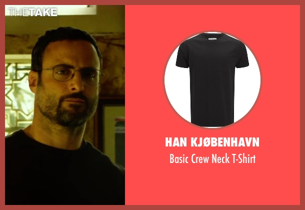 Han Kjøbenhavn black t-shirt from 13 Hours: The Secret Soldiers of Benghazi seen with Dominic Fumusa (Tig)