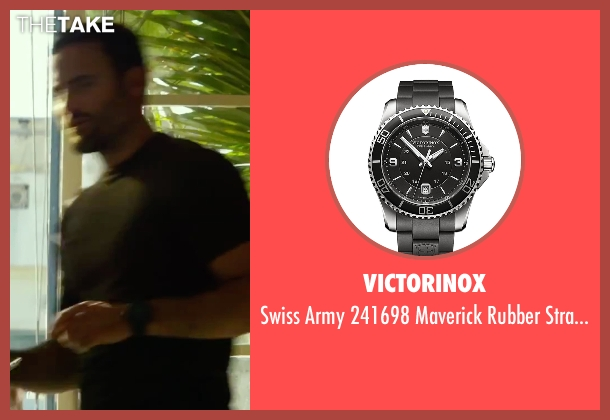 Victorinox black watch from 13 Hours: The Secret Soldiers of Benghazi seen with Dominic Fumusa (Tig)