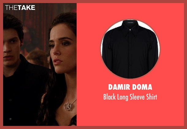 DAMIR DOMA black shirt from Vampire Academy seen with Dominic Sherwood (Christian Ozera)